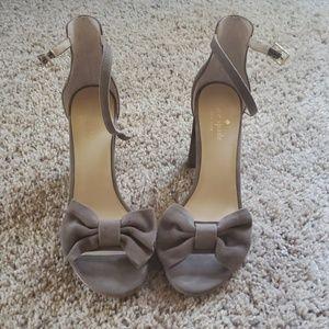 Kate Spade Suede Bow Heels